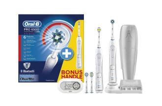 Oral-B电动牙刷顶级家庭套装Pro 6500直降194.15欧,附赠一个智能牙刷手柄