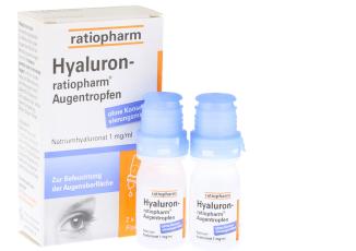 HYALURON ratiopharm眼药水两瓶套装低至11.85欧