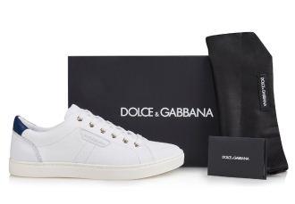 Dolce&Gabbana杜嘉班纳正品男士休闲系带小白鞋直降121欧
