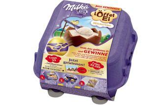 德国原装milka妙可复活节特别装巧克力蛋仅需2.49欧