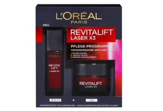 L'Oreal欧莱雅REVITALIFT复颜抗皱精华面颈日霜两件套低至20.55欧