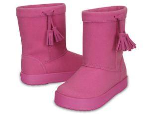Crocs卡洛驰女童高筒流苏冬靴五折特惠,低至25欧