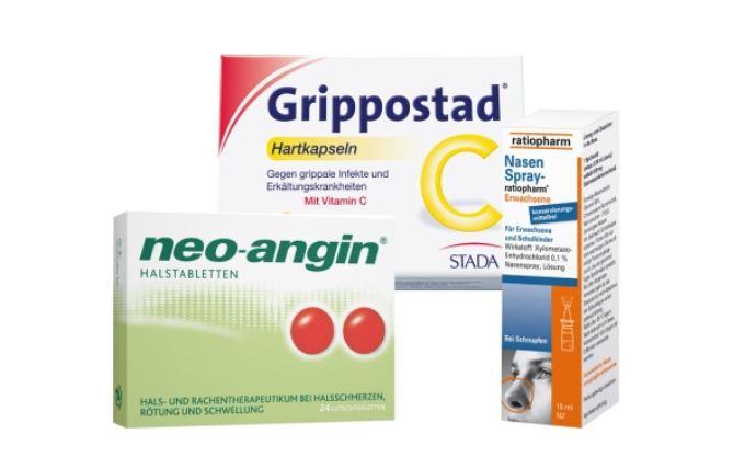 原价26.04欧的感冒药集锦(NasenSpray-ratiopharm鼻炎喷雾等)降至12.49欧