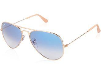 美国Ray-ban雷朋经典湖水蓝反光镜面设计的太阳镜八五折