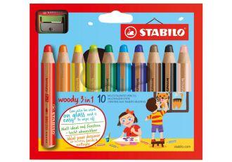 适合儿童的德国Stabilo思笔乐儿童水溶性彩色笔
