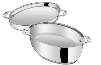 原价169.99欧的Tefal特福全不锈钢煎锅、煮锅两件套降至54欧