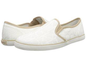 Calvin Klein 2017春夏新款印花小白鞋低至54.6欧