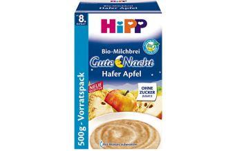 hipp喜宝婴幼儿睡前有机燕麦米糊全新配方以及500g超值包装3.49欧