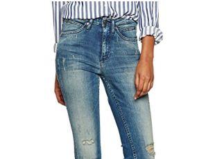 Calvin Klein纯棉女士高腰牛仔裤直降近50欧