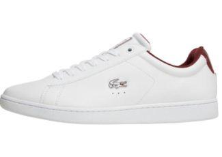 休闲服饰王牌Lacoste鳄鱼男士小白鞋低至53.95欧