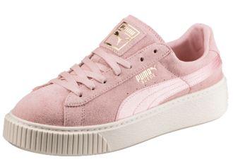 全新街拍必备Puma厚底松糕鞋Suede Platform,粉红系少女心