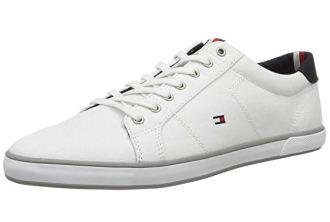 Tommy Hilfiger男士帆布小白鞋低至39欧