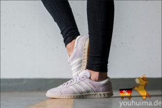 Adidas网红鞋舒适自在的Originals Hamburg超温柔糖果紫色仅需61.95欧
