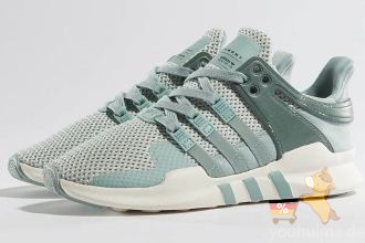 Adidas阿迪达斯EQT SUPPORT经典sneaker独家湖水蓝色七五折