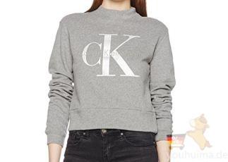 Calvin Klein的2017最新款女士字母短款卫衣True Icon低至59.63欧