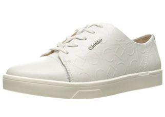 可媲美adidas stan smith的最新款Calvin Klein印花皮质小白鞋直降55.2欧