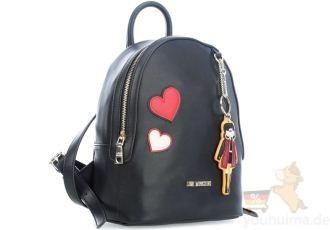 Love Moschino最新sticker挂饰造型双肩包Girls & Heart