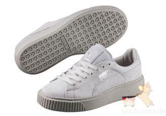 明星款Puma厚底松糕鞋Basket Platform Reset 半价,仅需50欧