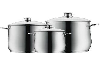 WMF福腾堡带盖汤锅三件套低至74.9欧