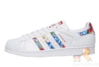 Adidas三叶草2017秋冬新款贝壳头印花碎花小白鞋SUPERSTAR优惠价,仅需81.95欧