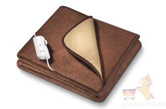 德国博雅Beurer HD100可调温定时防尘大号保健电热毯四折特惠,仅需68.77欧