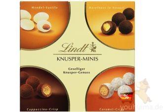 瑞士莲lindt坚果榛仁夹心巧克力MIX盒装低至9.99欧