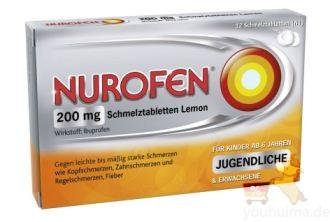 德国nurofen布洛芬Ibuprofen退烧止痛药低至4.77欧