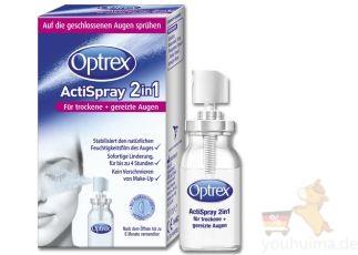 德国Optrex Actispray二合一喷雾式眼药水,缓解隐形眼镜带来的干涩眼
