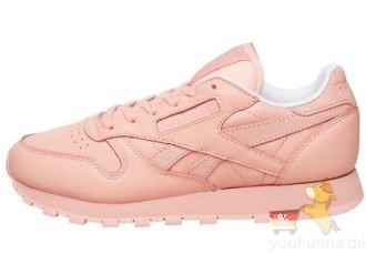 Reebok锐步Spirit女子舒适百搭淡粉色休闲鞋低至47.95欧