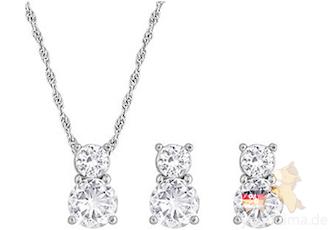 SWAROVSKI施华洛世奇水晶耳环项链套装低至96欧,国内专柜价低至七折