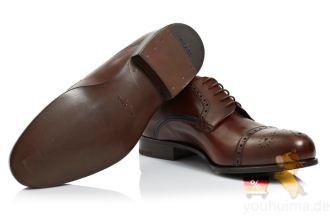 原价750欧的prada普拉达正品男士皮鞋五折特惠,低至369欧