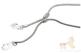 施华洛世奇SWAROVSKI优雅时尚Y型水晶锁骨项链八八折
