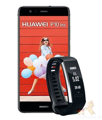 o2网手机无限量电话合同送10G流量+Huawei P10 Lite + 运动手环Fitnessarmband