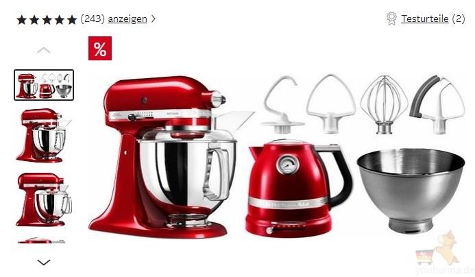 欧洲最知名的KitchenAid厨师机和家用电器等7折起