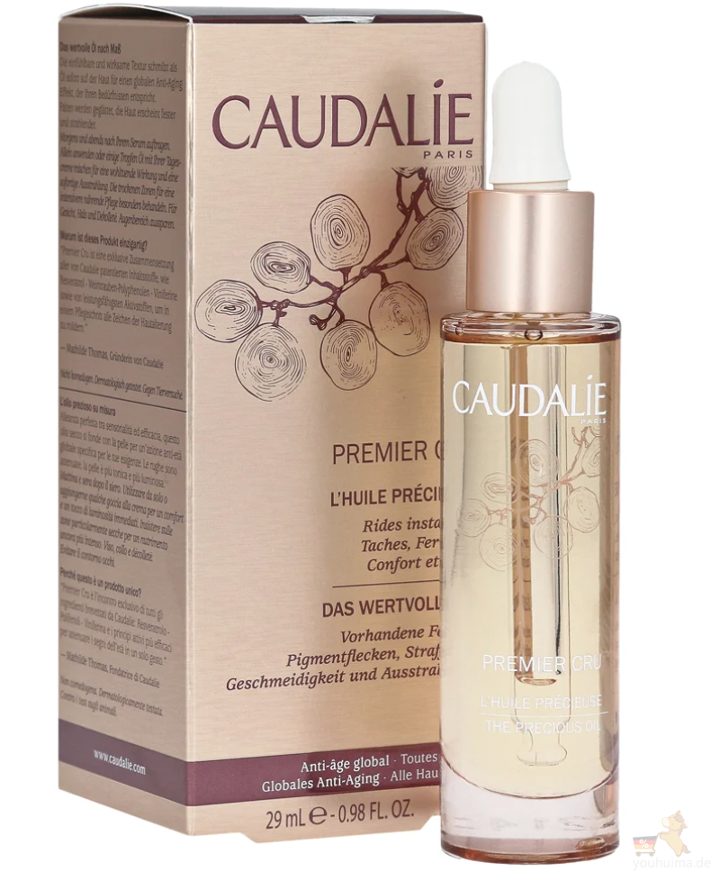 CAUDALIE欧缇丽Premier Cru系列新款葡萄籽尊贵时光逆转全效精华油