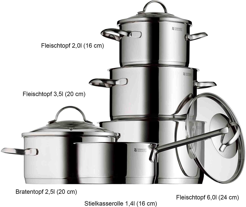 德国高端WMF福腾堡带盖医用不锈钢锅五件套半价