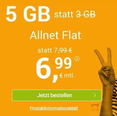 本月最佳手机合同每个月仅6.99欧元