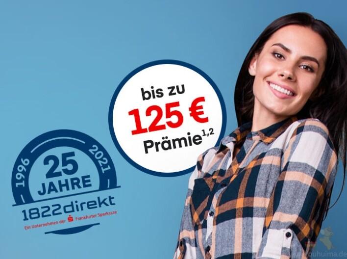 免费的1822direkt银行开户就送125欧元