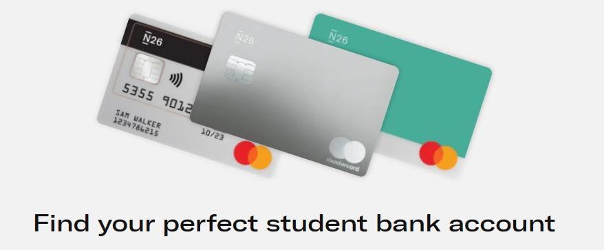 N26 bank student account
